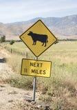 Warnzeichen des Verkehrs Lizenzfreie Stockbilder