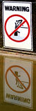 Warnzeichen - Gefahrenkrokodile, keine Schwimmen Lizenzfreies Stockbild