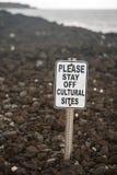 Warnzeichen-Küstenlinie Stockbilder