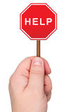 Warnzeichen mit Wort HILFE. stock abbildung