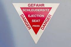Warnzeichen von Flugzeugen Lizenzfreie Stockfotos