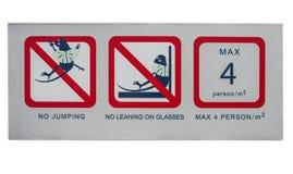 Warnzeichen zur Sicherheit Lizenzfreies Stockfoto