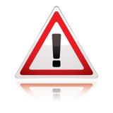 Warnzeichenikonengroßbritannien-Ausruf lizenzfreie abbildung