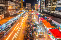 Warorot market and long exposure night life Stock Photography