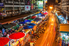 Warorot market and long exposure night life Stock Image