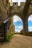 Warowny średniowieczny miasto Carcassonne w Francja fotografia stock