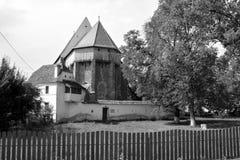 Warowny średniowieczny saxon kościół w wiosce Bradeni, Henndorf, Hegendorf, Transylvania, Rumunia Obraz Royalty Free