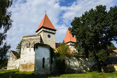 Warowny Ewangelicki kościół od Dealu Frumos, Transylvania, Rumunia zdjęcie royalty free