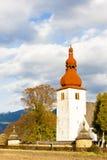 Warowny kościół w Liptovske Matiasovce Zdjęcie Stock