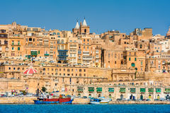 Warowny miasto Valletta Malta Zdjęcie Royalty Free