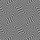 Warp Checkerboard Стоковое Изображение