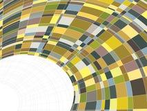 warp för matrismosaikfyrkanter stock illustrationer