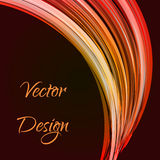 Warp orange lines. As a ray, vector background design royalty free illustration