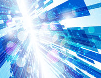 Warp Speed Abstract Background. Illustration Royalty Free Stock Image