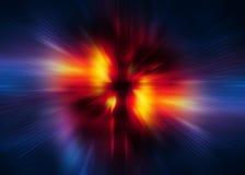 Warp speed digital background Stock Image