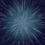 Warp Stars. Ray Galaxy Background Stock Photo