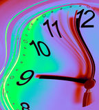 Warp Time. Clock face with moving second hand digitally manipulated Royalty Free Stock Photos