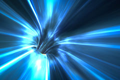 Warp tunnel in space Stock Images