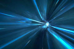 Warp tunnel in space Royalty Free Stock Photos