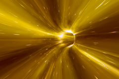Warp tunnel in space Royalty Free Stock Images