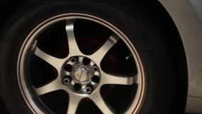 Warped Automotive Tire And Rim stock footage
