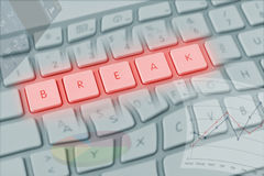Warped computer keyboard spelling Royalty Free Stock Image