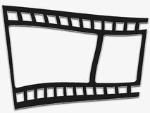 Warped Filmstrip Royalty Free Stock Photography