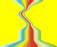Warped Rainbow. Rainbow on a yellow background Royalty Free Stock Images