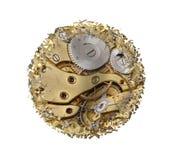 Warped and shattered clockwork mechnism Stock Images