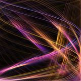 Warped vortex. Colorful swirling vortex of lines Royalty Free Stock Photography