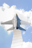 Warplane monument Royalty Free Stock Photography
