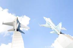 Warplane monument Stock Photo