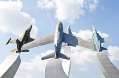 Warplane monument Royalty Free Stock Photos