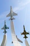 Warplane monument Stock Image