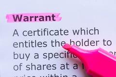 Warrant Stock Photos