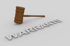 Warrants concept Stock Images
