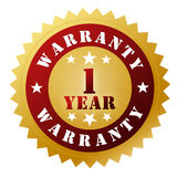Warranty badge concept 3d illustration Royalty Free Stock Photography