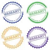 Warranty badge isolated on white background. Stock Photo