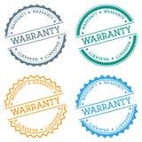 Warranty badge isolated on white background. Royalty Free Stock Photo