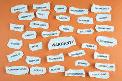 Warranty concept Royalty Free Stock Images