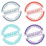 Warranty extended badge isolated on white. Warranty extended badge isolated on white background. Flat style round label with text. Circular emblem vector Royalty Free Stock Image