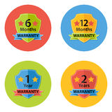 Warranty Flat Circle Icons Set 3. Illustration of Warranty Flat Circle Icons Set 3 with Shadow. 6 months, 12 months, 1 year, 2 years Royalty Free Stock Image