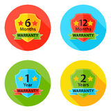 Warranty Flat Circle Icons Set 1 with Shadow Royalty Free Stock Photos