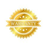 Warranty golden label Royalty Free Stock Images