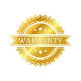 Warranty golden label. Illustration of warranty golden label Royalty Free Stock Images