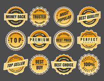 Warranty and guarantee labels stock illustration