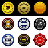 Warranty Guarantee Seal. A set of warranty guarantee seal award badge stock illustration