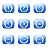 Warranty Guarantee Seal Square Vector Blue Icon Stock Photo