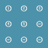 Warranty Guarantee Seal Vector Icon Set Stock Images