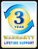 Warranty label Stock Photography